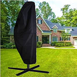 skyfiree Patio Umbrella Covers Cantilever Offset Umbrella Cover 9 to 13 ft 420D Waterproof Durable Outdoor Market Parasol ...