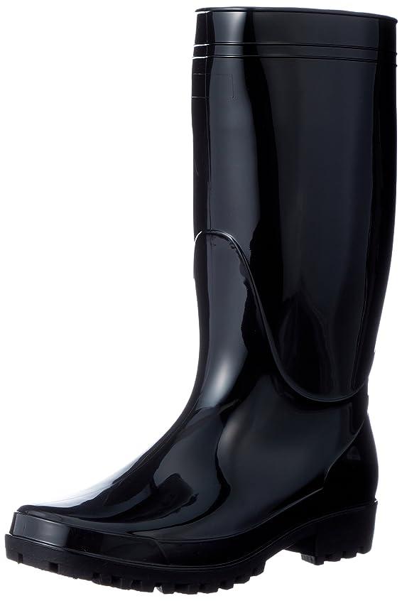 義務飲料興味[フジテブクロ] 長靴 軽半 レインブーツ PVC スタンダード 9661 メンズ BLACK