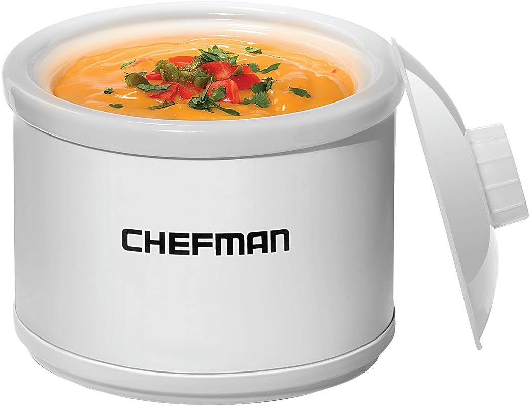 Chefman Mini Dipper Fondue Maker Food Warmer Extra Small 21 Oz White