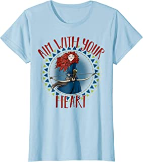 Womens Disney Brave Merida Aim With Your Heart Graphic T-Shirt