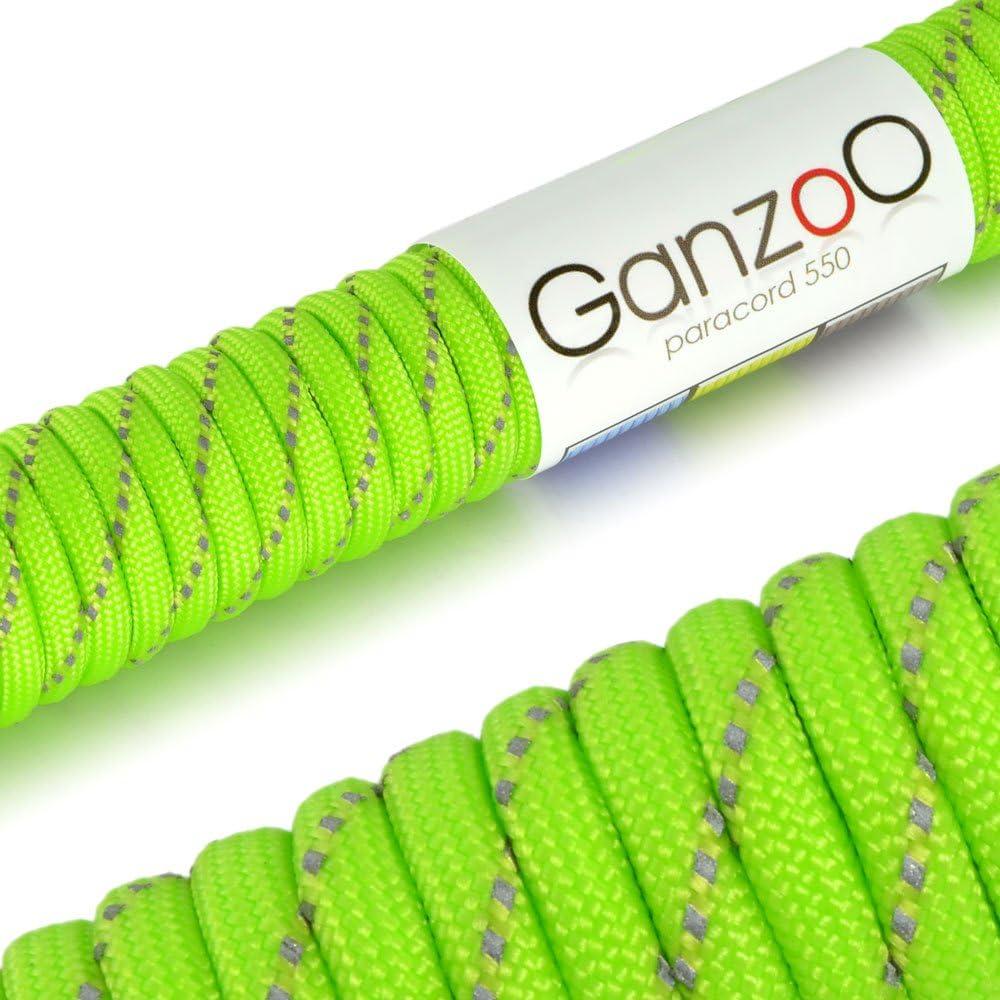 Reflectante Universal Cable de cuerda de supervivencia hecho de resistente al desgarro paracaídas/paracord 550 Núcleo cuerda de nailon, 250 kg, ...