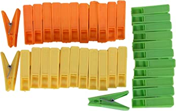 River Plastic Sturdy Cloth Clips, 36 Pieces,Orange, Yellow, & Green,18.5 Cms X 7 Cms X 3 Cms,Plastic