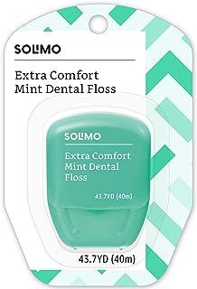 مارک آمازون - نخ دندان نعناع Solimo Extra Comfort Mint ، 40 میلی متر