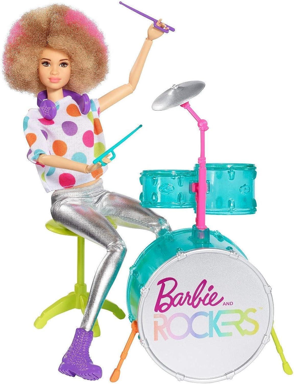 Barbie Poupée et The Rockers et Tambour