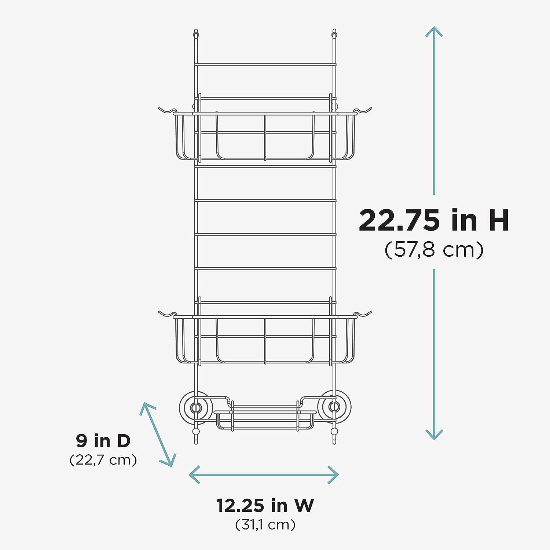 Rust-Resistant Over-The-Shower Door Caddy New Version Stainless Steel