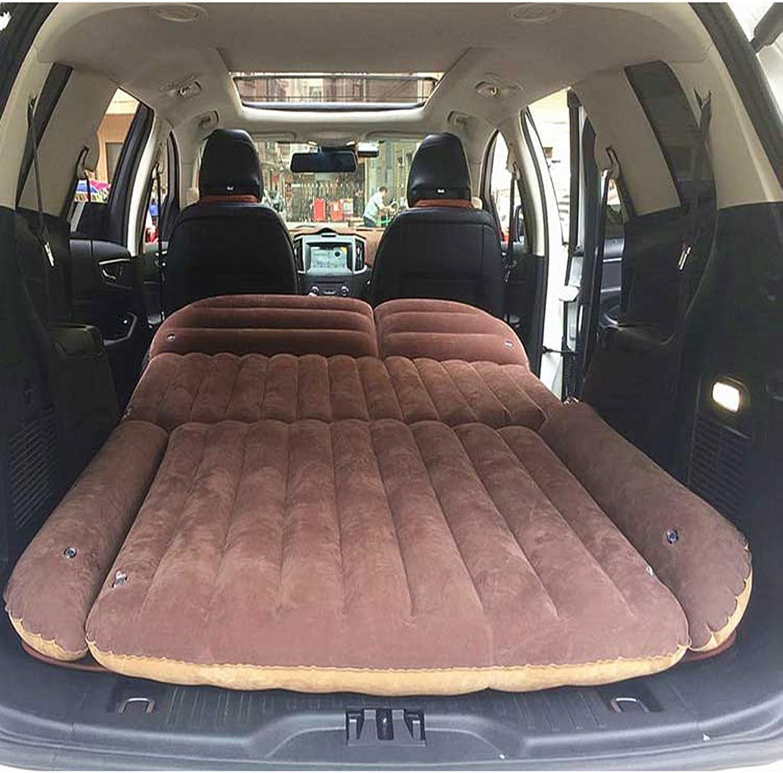 RMJXJJ-car air bed Auto-Luftmatratze-Matratzen-Stamm-faltendes Auto-Luftpolster-Auto-Bett (Farbe   Braun)