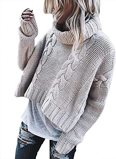 JUNMAONO Mujer Suéter Suelto Mujer Jerséis Texturizado con ...