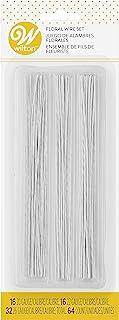 Wilton Gum Paste Wire Packet 64 Pieces, WT-1005-4456, Aluminum, White