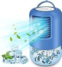 BILIFIT Condizionatore Portatile, 4 In 1 Climatizzatore, Ventilatore, Umidificatore, Mini Raffreddatore D'Aria Con 7 Luci ...