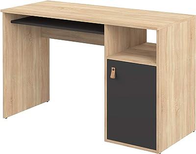 Temahome Bureau Oxford, Cardboard, Rovere E Nero, 115X50X75,5 cm (LxPxA)