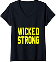 Womens Boston Wicked Strong V-Neck T-Shirt