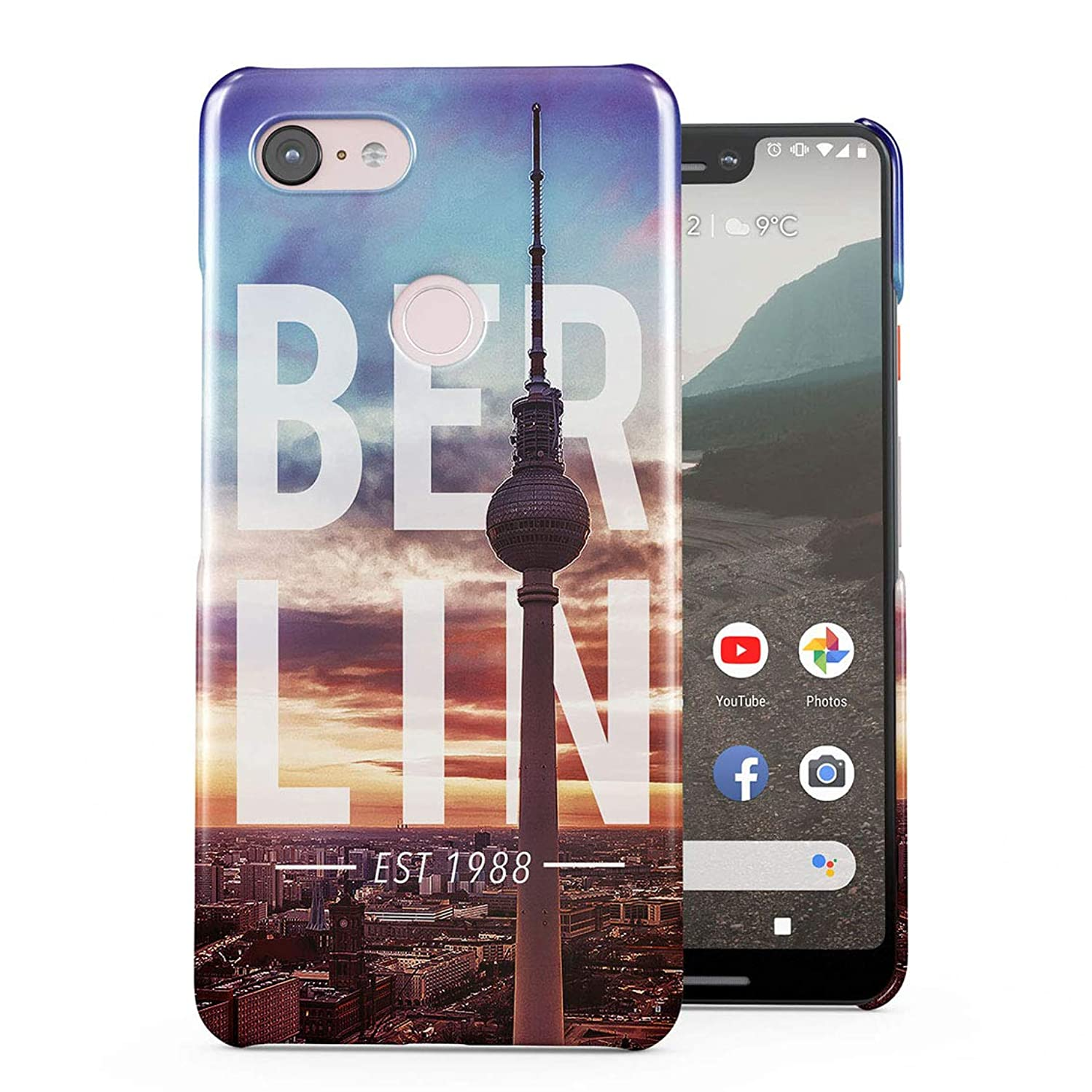 Berlin Television Tower Germany Capital Deutschland Plastic Phone Snap On Back Case Cover Shell for Google Pixel 3 XL