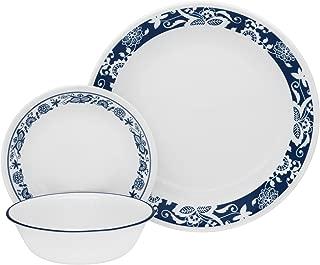 Corelle 1114046 Livingware 16-Piece Dinnerware Set, True Blue, Service for 4