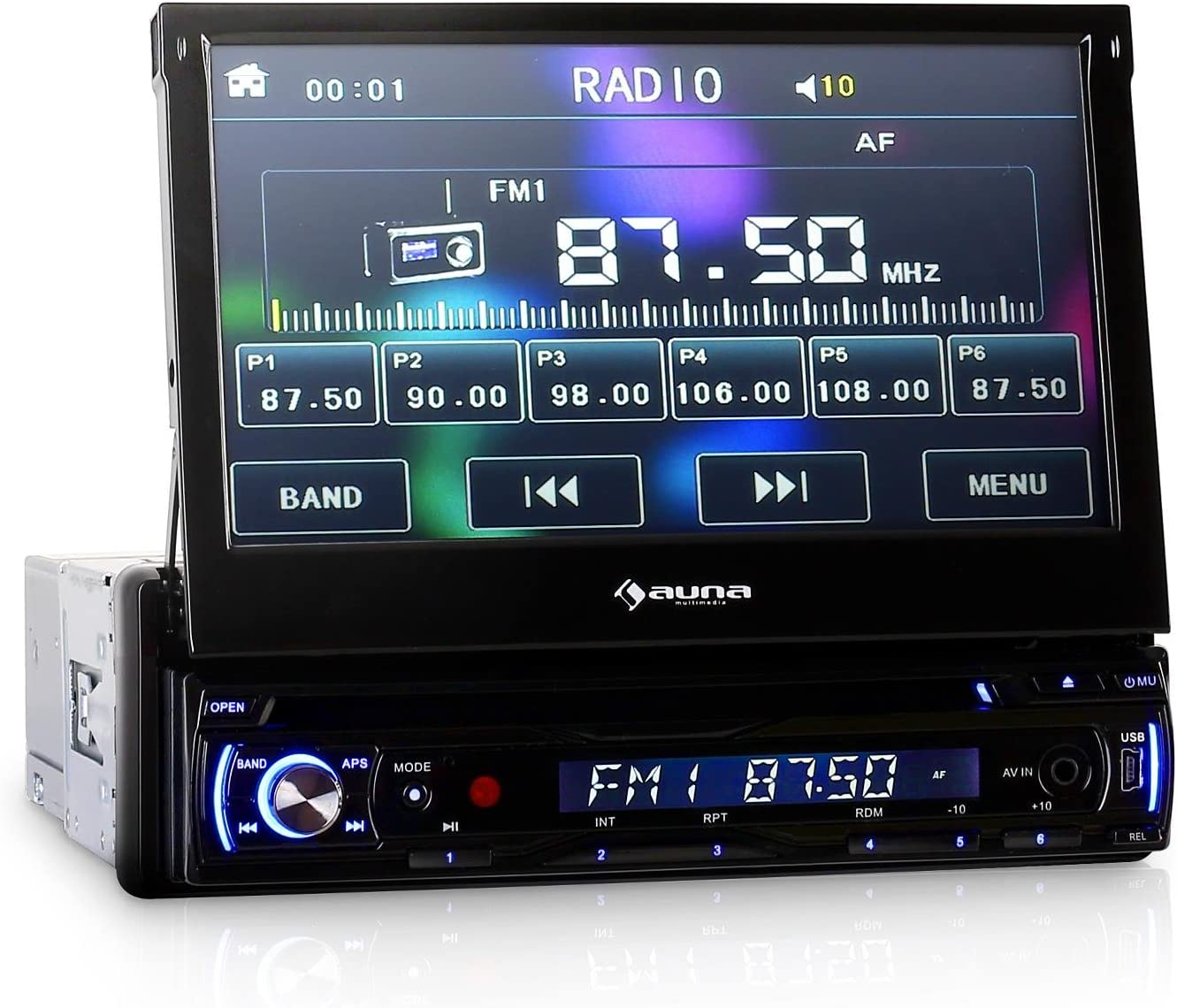 Auna Mvd 180 Car Radio Moniceiver Car Hifi Radio 7 Elektronik