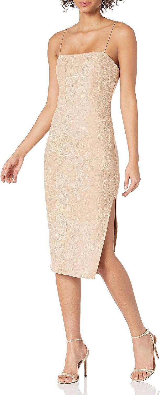 4SI3NNA Women's Soren Square Neck Sleeveless Bodycon Midi Dress