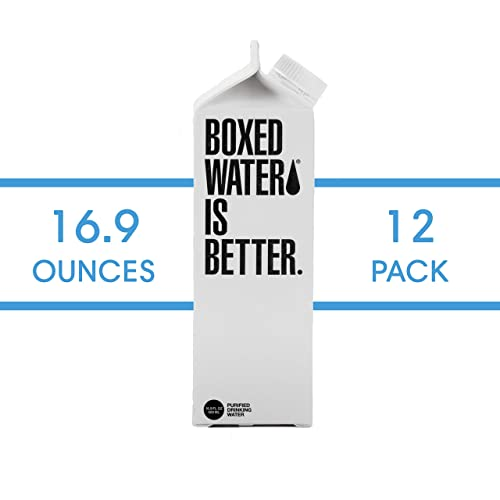 Boxed Water 16.9 ounce 12 pack, Better than plastic bottled water, BPA free drinking water