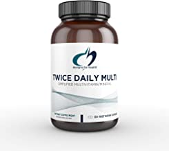 Designs for Health Twice Daily Multi - Iron-Free Multivitamin with Active Folate + Chelated Minerals (120 Capsules)