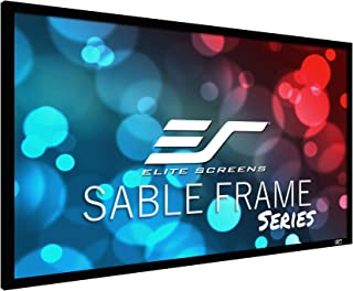 Elite Screens Sable Frame AcousticPro1080P3 Series, 150-inch Diagonal 16:9, Sound Transparent Perforated Weave Fixed Frame...