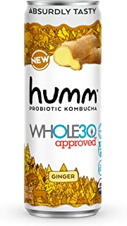 Sponsored Ad - Humm Whole30 Approved Probiotic Kombucha Ginger - The Only Whole30 Approved Kombucha. Absurdly Tasty. 2 Bil...