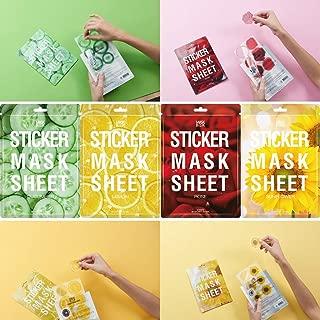 [MASK BOOK] STICKER MASK SHEET ( Slice Mask Sheet ) - Body & Face Sheet Mask - 4PACKS - 48 PATCHES (Lemon+Cucumber+Rose+Sunflower)