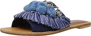 Kenneth Cole New York Women's Osmond Slide Sandal with Fringe Pom Detail