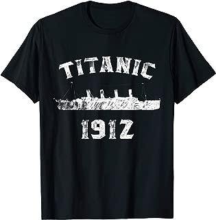 Titanic Ship 1912 Atlantic Ocean Sink Sea Disaster Drawing T-Shirt