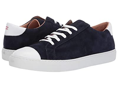 eleventy Suede Lace-Up Sneaker (Navy) Men
