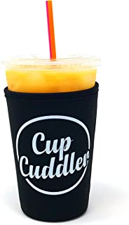 CupCuddler Iced Coffee Insulated Sleeve I Reusable Neoprene Beverage Insulator Keeps Ice Drinks Cold I Java Coaster I for Dunkin Donuts Starbucks McDonalds and More