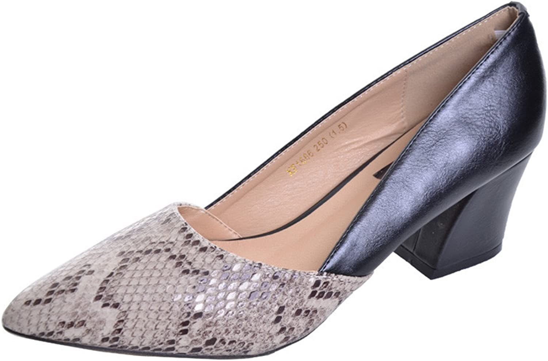 Daniig Serpentine High Heels Sexy Patchwork Elegant Pumps Low Heels Platform Women Casual shoes Slip On shoes Woman