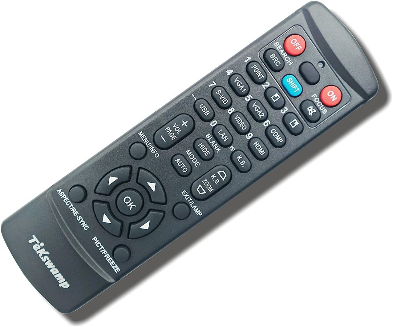 2021 spring and summer new TeKswamp Video Projector Remote San Jose Mall Control 822p for Epson