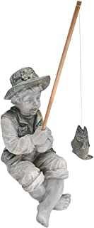 Best Design Toscano NG32122 Frederic The Little Fisherman of Avignon Boy Fishing Garden Statue, two tone stone Review