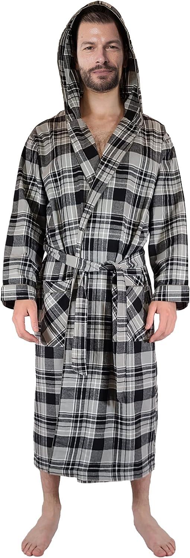 Andrew Scott Men's Warm Sale Robe Max 85% OFF Ho 100% Brush Cotton Flannel