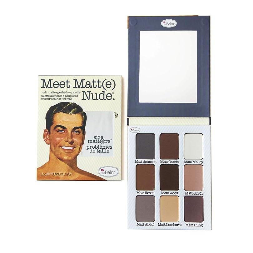 迷信一族面倒The Balm(ザバーム) Meet Matte Nude - Matte Eyeshadow Palette 25.5g/0.9oz