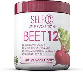 BEET12 - Beet Powder Plus Vitamin B-12 (2,000mcg) - Black Cherry - 30 Servings (180g)