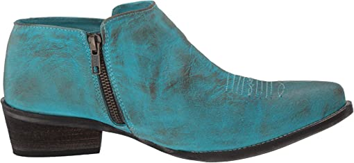 Blue Burnished Leather