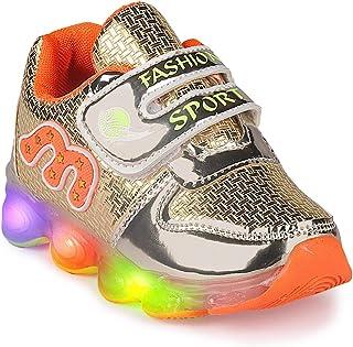 Walktrendy Unisex Sneakers-9 UK (27 EU) (10 Kids US) (wty1238_Gold