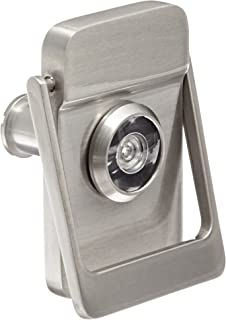 Rockwood 614V.15 Brass Door Knocker with Door Viewer, 2-1/8