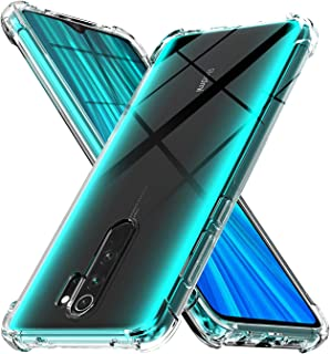 Case for Xiaomi Redmi Note 8 Pro,[Strengthen Version with Four Corners] [Camera Care Protection] Shockproof Soft TPU Rubbe...