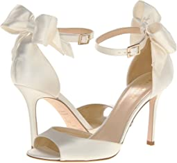 c7fc45f8f61f Kate spade new york grande bow ivory satin pale turquoise satin ...