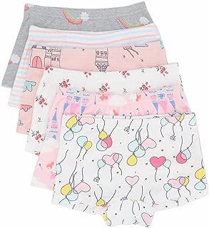 Little Girls Cotton Brief Underwears Kids Boyshort Panties Set Toddler Undies 6 Pack