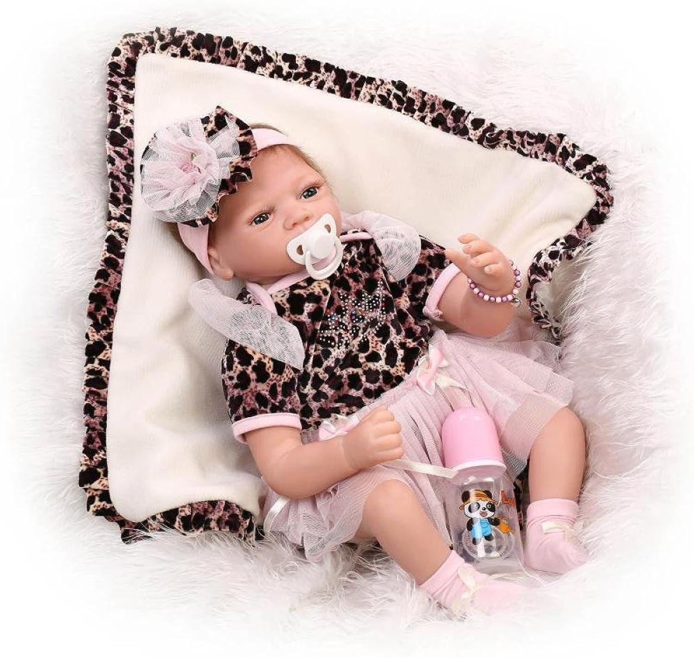 QXMEI 22-Zoll-Wiedergeburt Babypuppe Simulation Realitt Baby Silikon Spielzeug Kreative Mdchen Geburtstagsgeschenk 55 cm