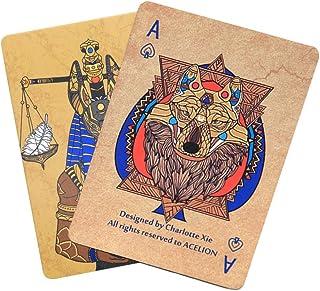 Acelion Werewolf Anubis Playing Cards, Gift Poker Cards, Paper Cards (Werewolf Anubis Cards UV Printing)