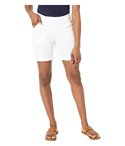 Jag Jeans 7 Petite Gracie Pull-On Shorts (White) Women