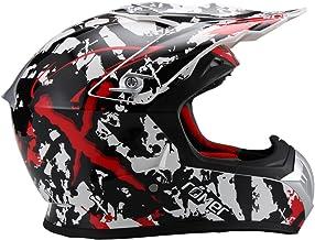 <h2>Römer Helmets Crosshelm im Stylischen Design mit Sonnenblende - MX- Enduro -ATV - Offroad - Quad, Schwarz, Rot, Weiß Dekor, Größe XL</h2>