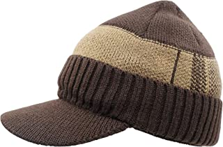 f91d592f365 Home Prefer Toddler Boys Winter Hat Warm Thick Knit Beanie Kids Hat with  Visor