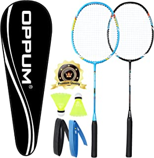 oppum Carbon Fiber Composite Professional 2 Player Badminton Racket Set Super Lightweight Badminton Racquet Including 2 Rackets/1 Carrying Bag/2 Overgrips