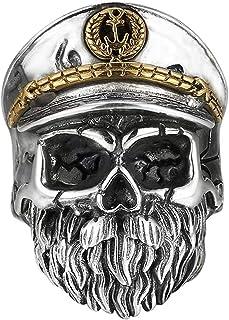 خاتم رجالي S925 من الفضة الاسترلينية بتصميم جمجمة يمكن ضبط مقاس الخاتم ، يمكن استخدام أي إصبع من مواد الفضة النقية أكثر متانة