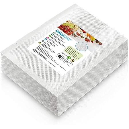 Sac Sous Vide Alimentaire,100 Pièce 20x30cm Sous Vide Sachets spécialement Conçus pour la Cuisson Sous Vide et le Stockage des Aliments,Sans BPA, adaptés à Toutes les Machines de mise Sous Vide