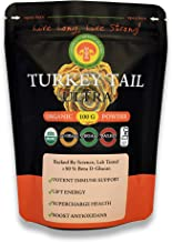 Organic Turkey Tail Mushroom Powder Extract, Adult Strength, 100 Gram/ 2 Month Supply, Immunity, 50% Beta Glucans, Fruiting Bodies, No Filler, Anti-Viral, Anti-Infection, PSK, Gut, IBS, Digestion