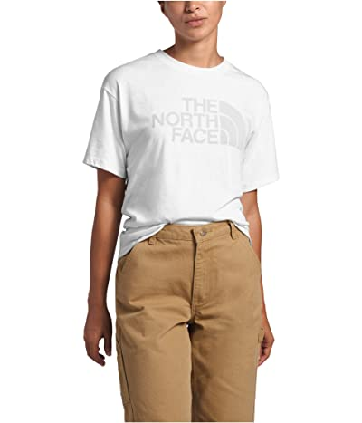 The North Face Half Dome Short Sleeve Tri-Blend Tee (TNF White Heather) Women